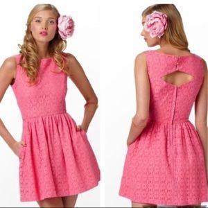 Lilly pulitzer hot pink lace aleesa dress
